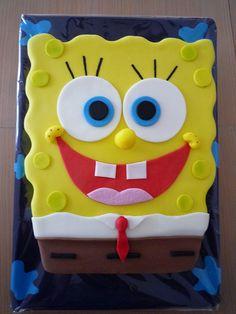 Sponge Bob Cupcakes, Sponge Bob Cake, Spongebob Birthday Party, Funny Cake, Character Cakes, Dream Cake, Disney Cakes, Celebration Cakes, Themed Cakes