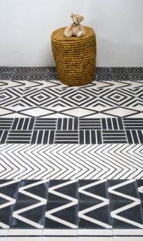"""Kelim"" flooring by Swedish designer! But really, this screams MUD CLOTH!"