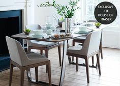 House Of Fraser Dining Room Furniture Inspiration Hampton Stainless Steel And Glass Dining Table  Kitchen And Review