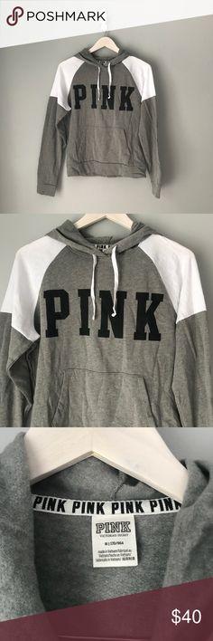 bdb3a9359 NWOT Victoria's Secret pink gray sweatshirt Black pink logo Gray and white  color block sweatshirt Ordered