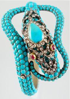 Victorian turquoise serpentine bracelet