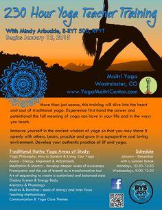 200 Hour Yoga Teacher Training Flyer For Matiri Yogamaitricenter