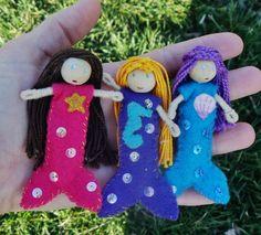 Ocean themed mermaid dolls  A Waldorf inspired bendy doll By: A Curious Twirl  https://www.etsy.com/shop/ACuriousTwirl