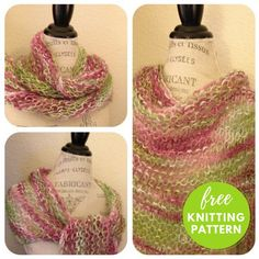 """Easy Shawl Free Knitting Pattern - One Skein Project!  One Skein Shawl Free Knitting Pattern-This triangle shawl is one of my  favorite projects to make.  I love that you start out with three stitches and just keep increasing  until it is time to bind off. It's a """"no think"""" knittin"""