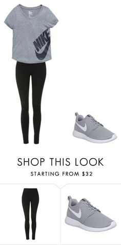 """run anyone?"" by baby-bre ❤ liked on Polyvore featuring Topshop and NIKE"