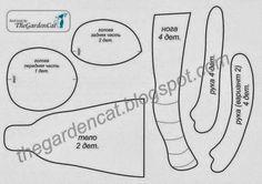 FELTRO MOLDES ARTESANATO EM GERAL: BONECA DE PANO gorjus molde