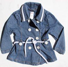 Children's Place Girls Denim Jacket, Size 4