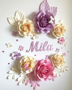 🌸 After five months of making paper flowers I've made this first set for my beautiful daughter Mila, my love and my inspiration 🌸💞💫 🌸…