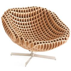 CNC router + MDF = papasan for the 21st century