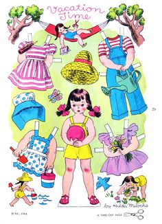 """The Golden Magazine - papercat - Picasa Web Albums """"Vacation Time"""" paper doll by Hilda Miloche"""