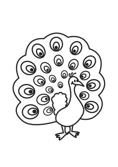 peacock coloring pages - Yahoo! Free Coloring Sheets, Coloring Books, Peacock Coloring Pages, Digital Stamps, Painted Rocks, Art Drawings, Photos, Birds, Embroidery