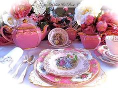 ` Tea Service, Tea Sets, Afternoon Tea, Table Decorations, Tea Set