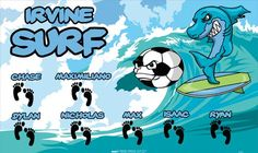 Surf-Irvine-41472 digitally printed vinyl soccer sports team banner. Made in the USA and shipped fast by BannersUSA. www.bannersusa.com