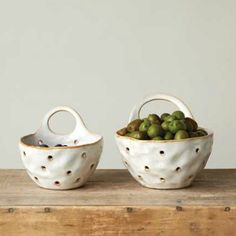 Ceramic Colander, Set of 2