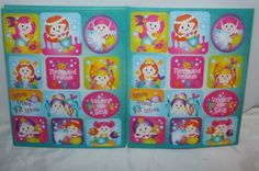 48 mermaid under the sea  stickers- loot bag party favour favours reward prizes