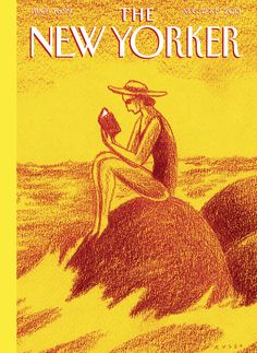 "The New Yorker - Monday, August 12 & 2013 - Issue # 4510 - Vol. 89 - N° 24 - Cover ""Reading Time"" by Anthony Russo The New Yorker, New Yorker Covers, Beach Reading, Reading Time, Thing 1, Page Turner, Magazine Art, Magazine Covers, Design Magazine"