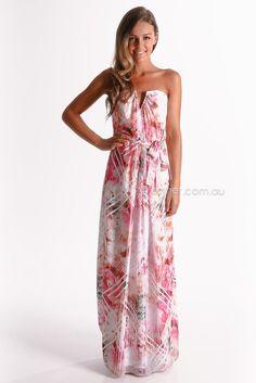 FEMELLA Empire Line Maxi Dress purchase from koovs.com | Maxi ...