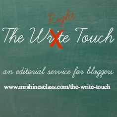 The Write Touch, an editorial service by Mrs. Hines