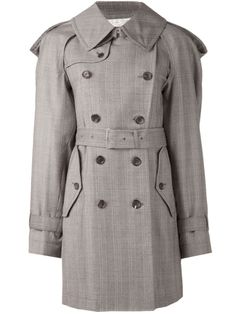 Comme Des Garçons Oversized Patterned Trench Coat - A'maree's - Farfetch.com