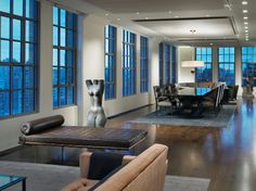 TriBeCa Loft - modern - dining room - new york - Gary Lee Partners