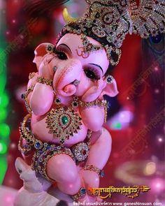 So cute Ganpati Bappa Jai Ganesh, Ganesh Lord, Ganesh Idol, Ganesh Statue, Lord Shiva, Lord Krishna, Clay Ganesha, Ganesha Art, Ganesha Pictures
