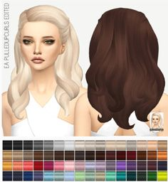 Miss Paraply: EA Pulldupcurls edit hairstyle solid coloros • Sims 4 Downloads