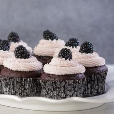Chocolate Blackberry Cupcakes. A little chocolate, a little blackberry and a lot of flavor.