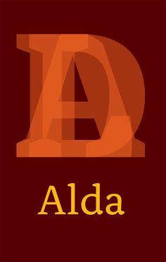 Font Specimen: Alda by Emigre Fonts