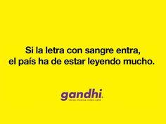 Imágenes: La publicidad de Librerías Gandhi