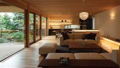 Minimalist House Design, Minimalist Home, Modern House Design, Modern Interior Design, Forest House, Japanese House, House Goals, Sofa Design, Home Projects