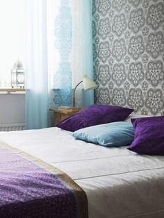 Levollinen makuuhuone 1950-luvun hengessä. | Unelmien Talo&Koti Kuva: Martti Järvi Toimittaja: Maire Haarla
