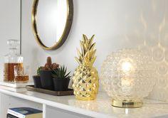 Mysbelysning i glas och blank mässingfärg, em home