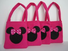 Minnie Mouse Hot Pink Favor Bags set of 4 by SilviaNellysCreation, $15.00