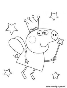 fairy peppa pig coloring pages printable and coloring book to print for free. Find more coloring pages online for kids and adults of fairy peppa pig coloring pages to print. Peppa Pig Coloring Pages, Birthday Coloring Pages, Valentine Coloring Pages, Dinosaur Coloring Pages, Fairy Coloring Pages, Dog Coloring Page, Cartoon Coloring Pages, Coloring Pages To Print, Free Coloring Pages
