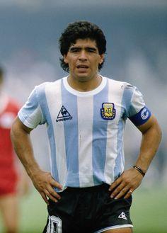 1986 Argentina Home (Le Coq) Maradona Retro Football, Football Soccer, Football Shirts, Football Cards, Fifa, E Sport, Sport Icon, Soccer World, World Football
