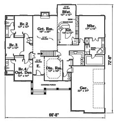 Image Of Large First Floor For House Plan 026D-0139