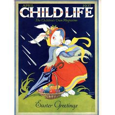 Easter 1937 April Child Life Magazine Complete