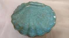 Sea shell platter Handmade ceramic platter Sea by PlayinMud420