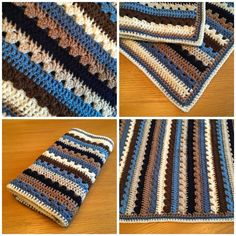 Crochet With Betty... granny stripe and trebles blanket, using idea from attic24