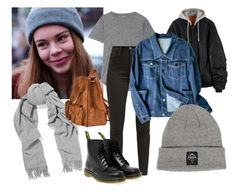 """""""Eva"""" by cinseep ❤ liked on Polyvore featuring Acne Studios, Yves Saint Laurent, Madewell, Levi's, Dr. Martens, EVA and skam"""