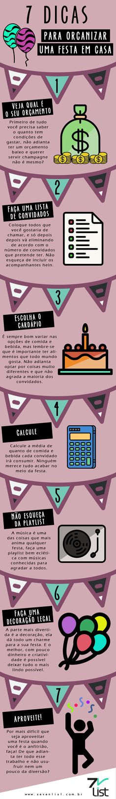 #Infográfico #Infographic #Design #Home #Party #DIY #Festa #Casa #Orçamento…