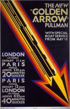 'The New Golden Arrow Pullman', SR poster, 1929.
