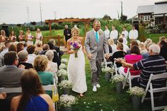 outdoor wedding ceremony at Swans Trail Farms