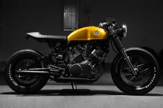 A converted 80's Yamaha Virago to awesome cafe racer