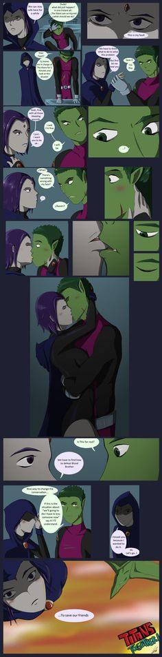 Teen Titans Ravenx Beast Boy comics | Is this for Real? (Beast Boy/ Raven short comic) by AndreaLeon