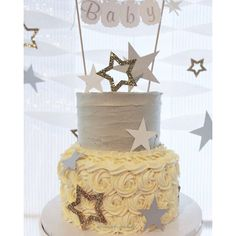 Twinkle twinkle little star baby shower #tbt #cake #dessert #madebymichellemark #twinkletwinklelittlestar ...