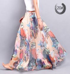 2015 New Fashion Casual Chiffon Skirt Summer Women bohemian Floral Print Beach Maxi Pleated flower Long skirt http://www.xfoor.com/products/2015-new-fashion-casual-chiffon-skirt-summer-women-bohemian-floral-print-beach-maxi-pleated-flower-long-skirt/