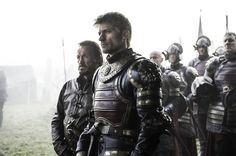 Games of Thrones season 7 Jamie and Bronn at the siege of Riverrun HBO series  screencap
