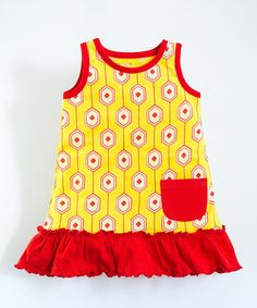 This Yellow Hex Organic Pocket Dress - Infant & Toddler is perfect! #zulilyfinds