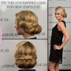 Sweet hairstyle from the 1920 / 1930s ideal for weddings or an evening!